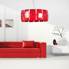 AZzardo Taurus Red - Pendant - AZZardo-lighting.co.uk