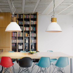 AZzardo Duncan White/Wood - Pendant - AZZardo-lighting.co.uk
