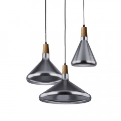 AZzardo Ida Mix Steel - Industrial style - AZZardo-lighting.co.uk
