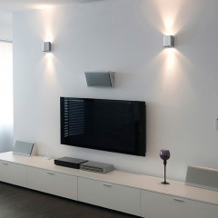 AZzardo Ginno 1 Aluminium - Interior designer - AZZardo-lighting.co.uk